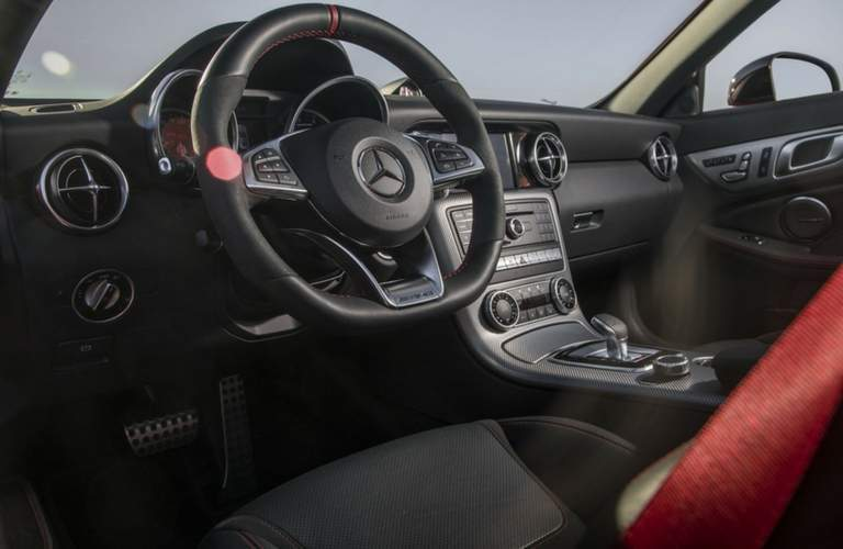 Steering wheel of 2018 Mercedes-AMG SLC 43 Roadste