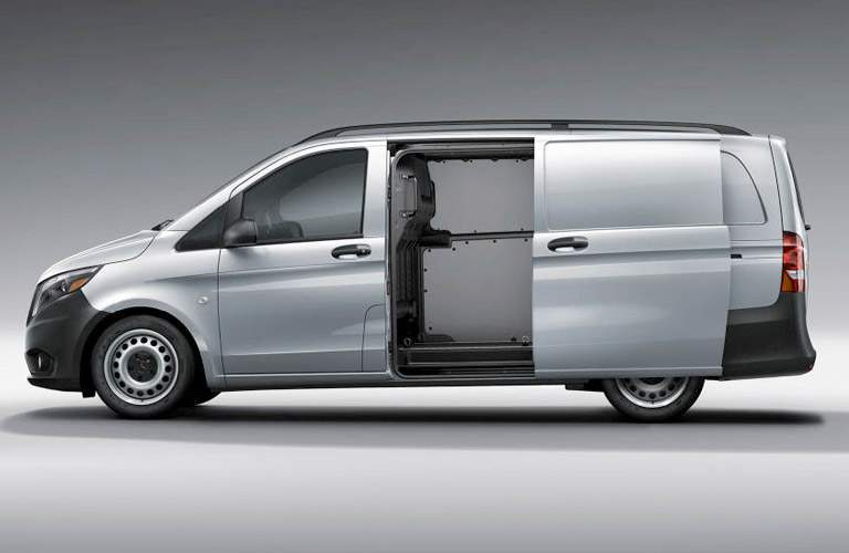 2018 Mercedes-Benz Metris Cargo Van with side door open