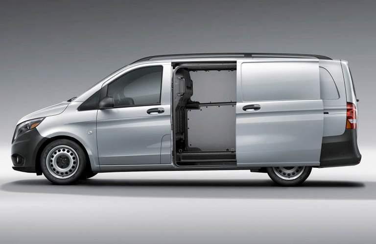 2018 Mercedes-Benz Metris Cargo Van with side door open