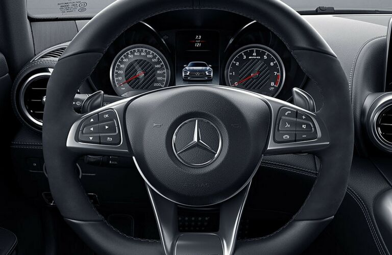 Steering wheel mounted controls of the 2018 Mercedes-Benz S-Class