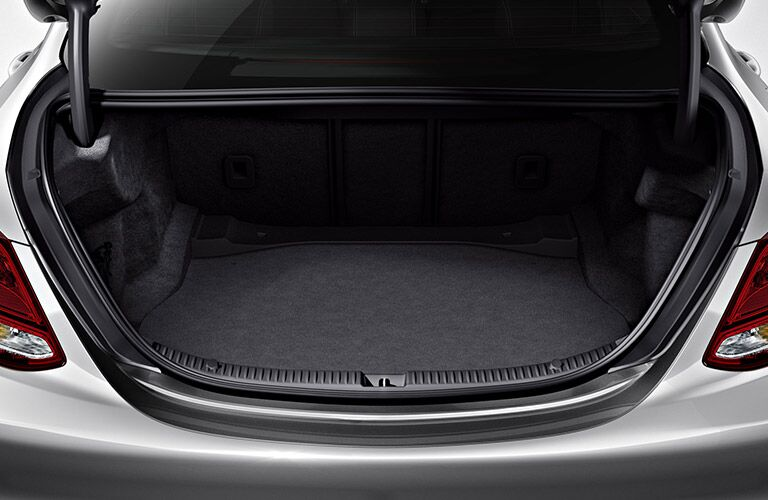 2018 Mercedes-Benz C 300 with open trunk