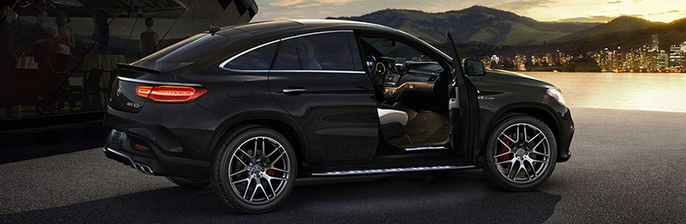 Black 2018 Mercedes-Benz GLE with front passenger door open