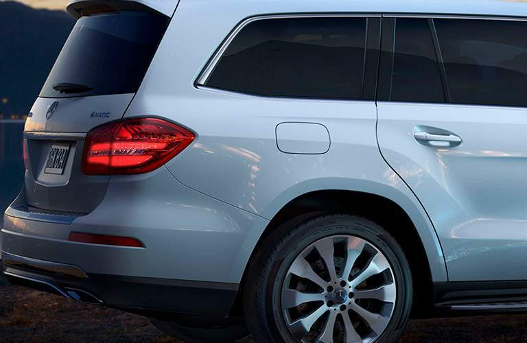 Rear End and bumper of 2018 Mercedes-Benz GLS SUV