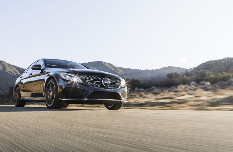 2018 Mercedes-Benz AMG C43 driving in the desert