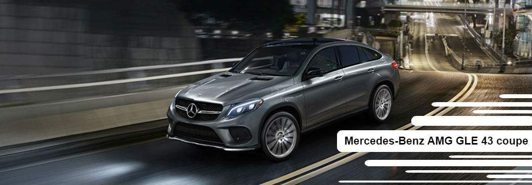 Gray Mercedes-Benz AMG GLE 43 Coupe driving on curvy road
