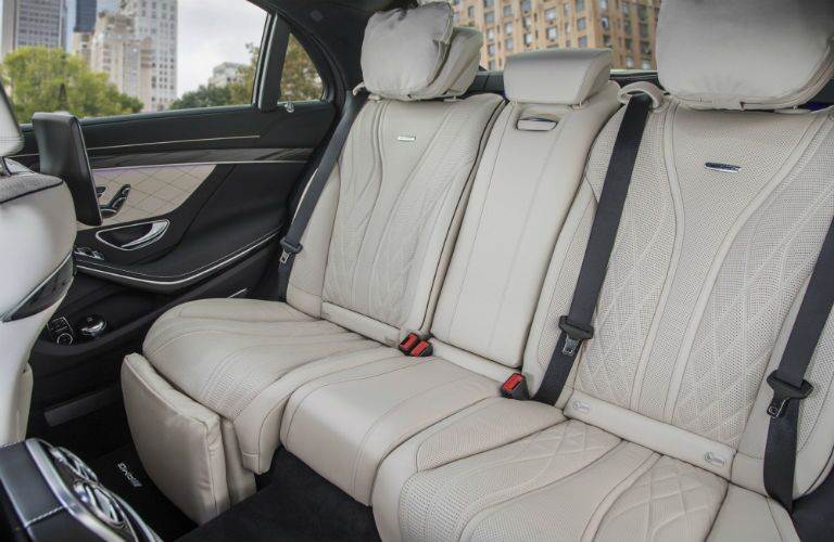 Side view of the 2018 Mercedes-Benz S-Class' rear seats
