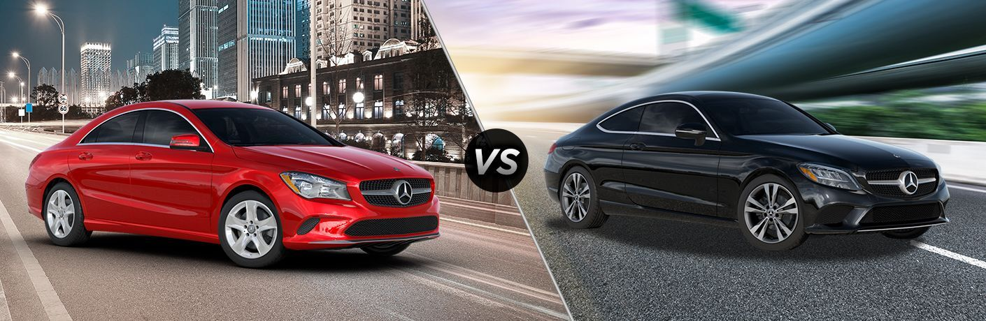 2019 Mercedes-Benz CLA vs 2019 Mercedes-Benz C-Class