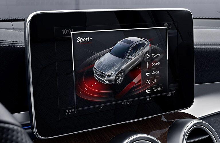 2019 Mercedes-Benz GLC Coupe infotainment screen