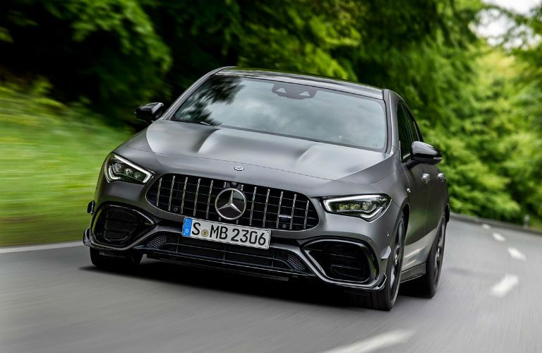2020 Mercedes-Benz AMG® CLA 45 on the road