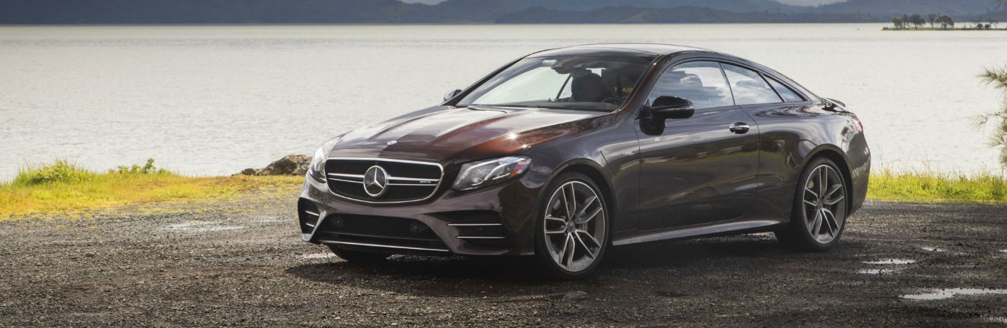 2020 Mercedes-Benz E-Class Coupe next to a body of water