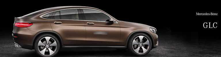 brown 2018 Mercedes-Benz GLC side shot