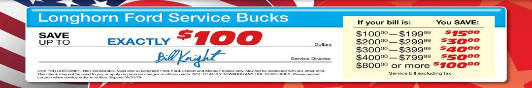 ford service discounts