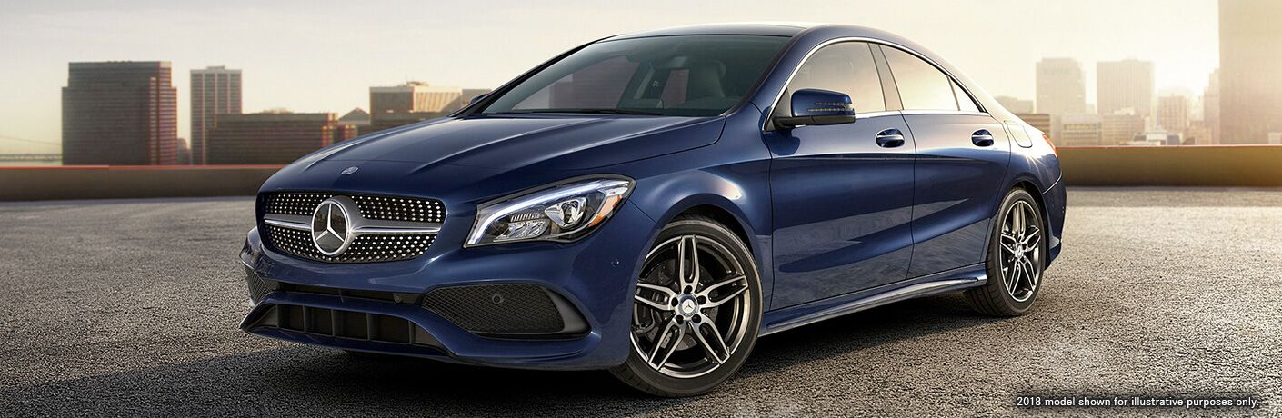 front and side view of 2019 mercedes-benz cla 250