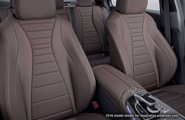 interior front and rear seating of 2019 mercedes-benz e-class