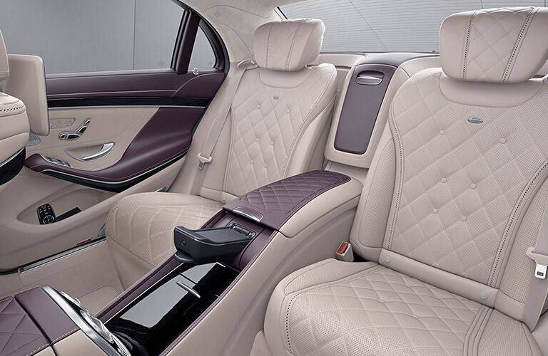 rear interior seating of 2019 mercedes-benz s-class including seats and armrest
