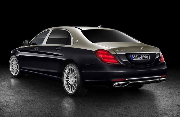 rear and side view of black 2019 mercedes-benz s-class