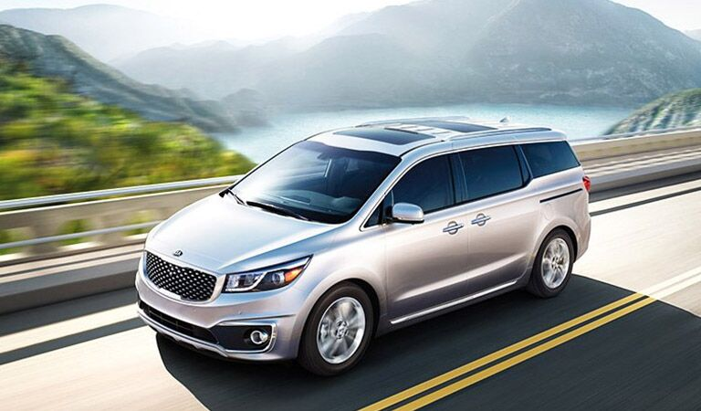 Kia Sedona Birds Eye View in White