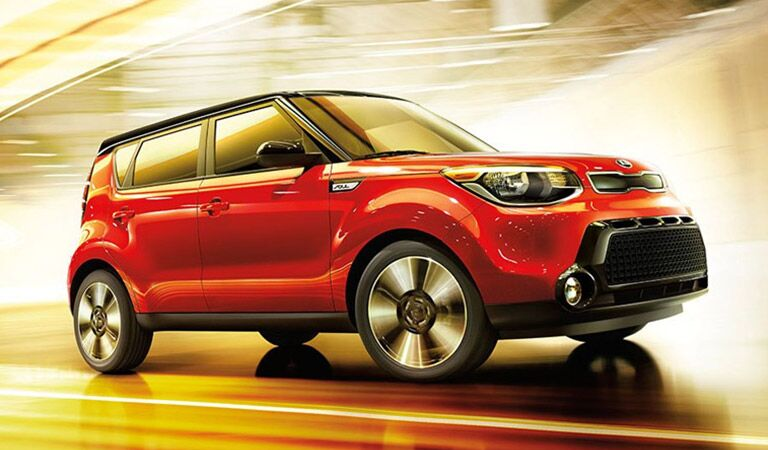 Kia Soul Exterior View in Red