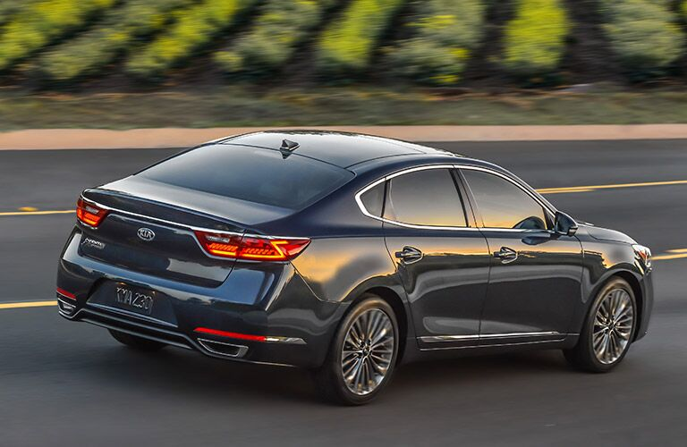 2017 Kia Cadenza Exterior View of Side and Rear in Black