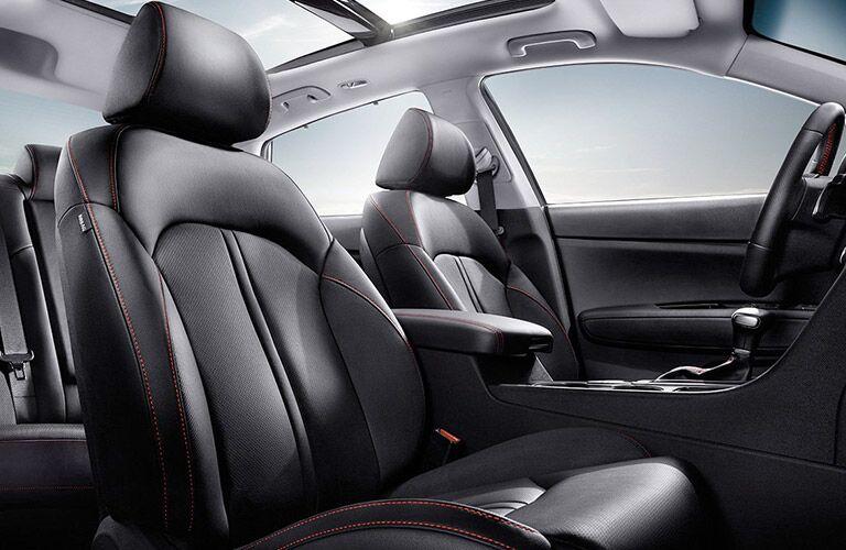 2017 Kia Optima Interior View of Seating in Black