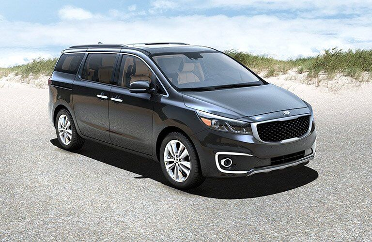 2017 Kia Sedona Exterior View in Gray