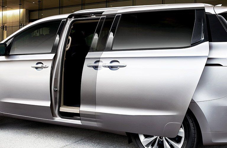 2018 Kia Sedona View of Sliding Doors in Silver