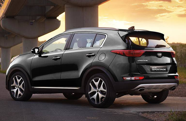 2017 Kia Sportage Exterior View of Rear End in Black