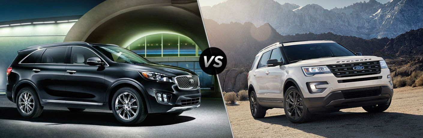 2017 Kia Sorento vs 2017 Ford Explorer
