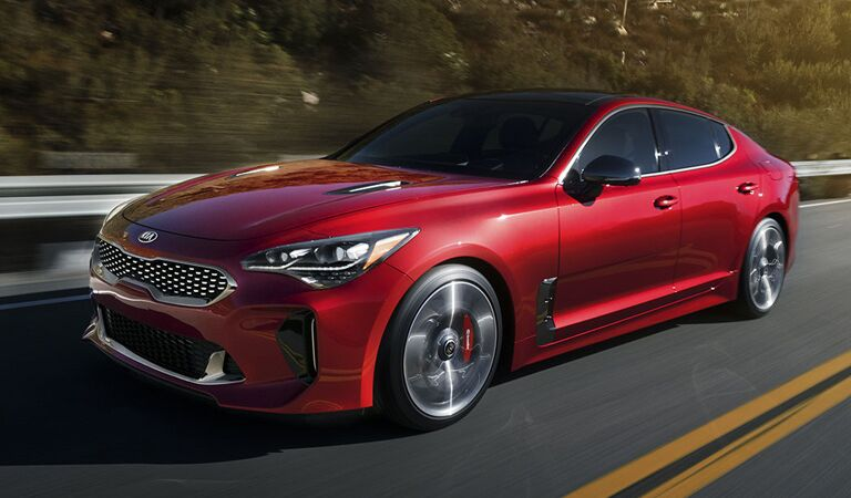 Kia Stinger Front and Side Red