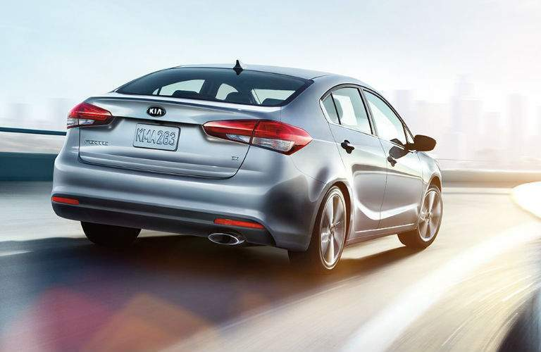 2018 Kia Forte Exterior View of Rear End in Silver