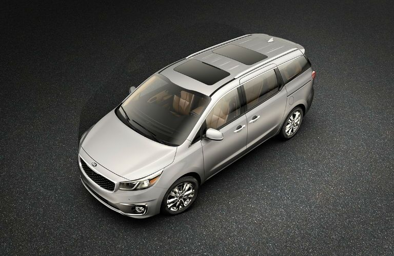 2018 Kia Sedona Exterior View in Silver Front and Side View