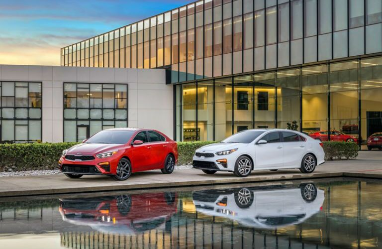 2019 Kia Forte Exterior View in Red and White