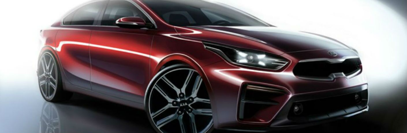 2019 Kia Forte Exterior View of Front End and Side in Red