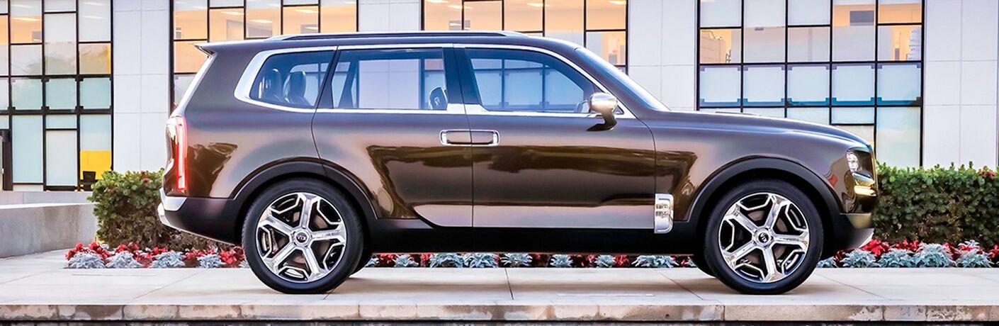 2020 Kia Telluride Side View of Brown Exterior