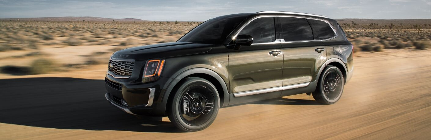 2020 Kia Telluride Side View of Brown Exterior