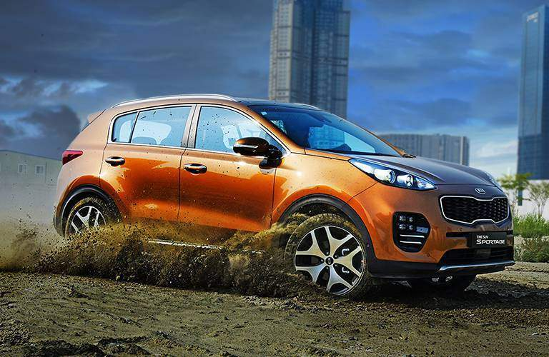 All-wheel drive is optional with the 2017 Kia Sportage