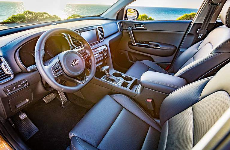 The interior of the 2017 Sportage offers lots of features and is well designed for convenience
