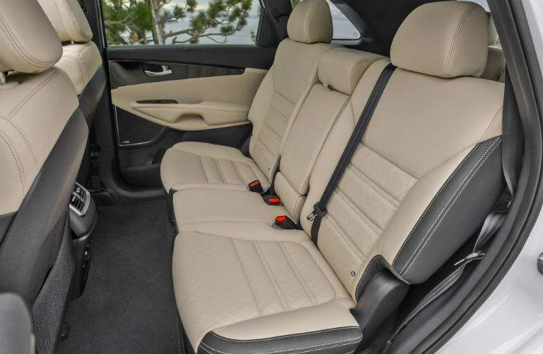 rear seats of the 2018 Kia Sorento