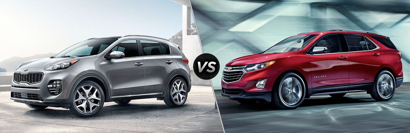 2019 Kia Sportage vs 2019 Chevy Equinox comparison image
