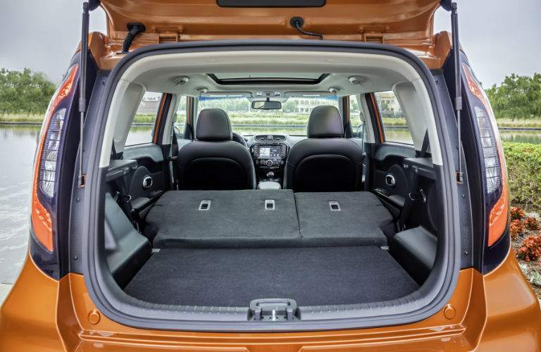 The 2017 Kia Soul offers more cargo space than the 2017 Honda Fit