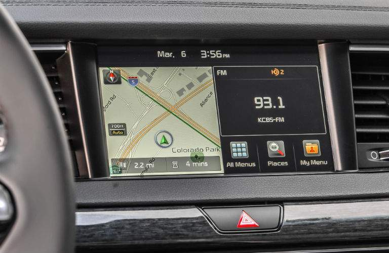 The 2017 Kia Cadenza has a distinct technology advantage over the 2017 Camry