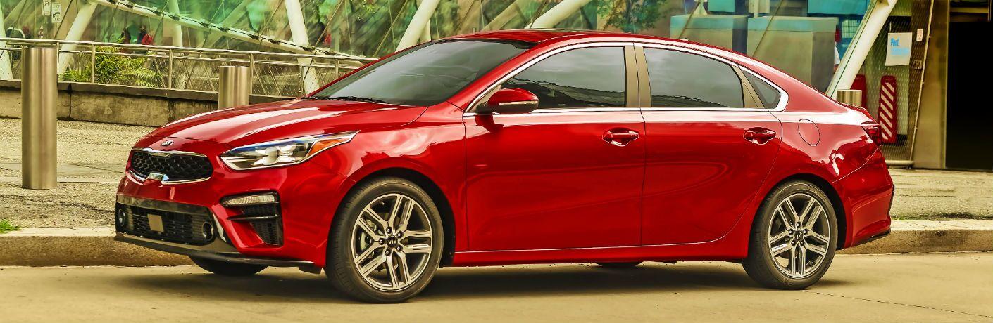 A left profile photo of the 2020 Kia Forte.