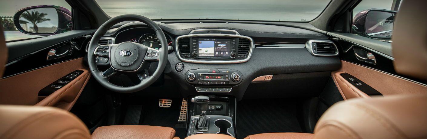 A photo of the dashboard in the 2020 Kia Sorento.