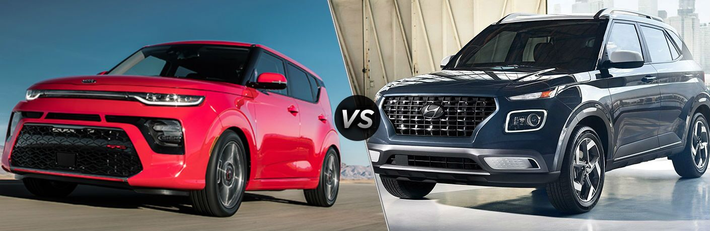 A side-by-side comparison of the 2020 Kia Soul vs. 2020 Hyundai Venue.