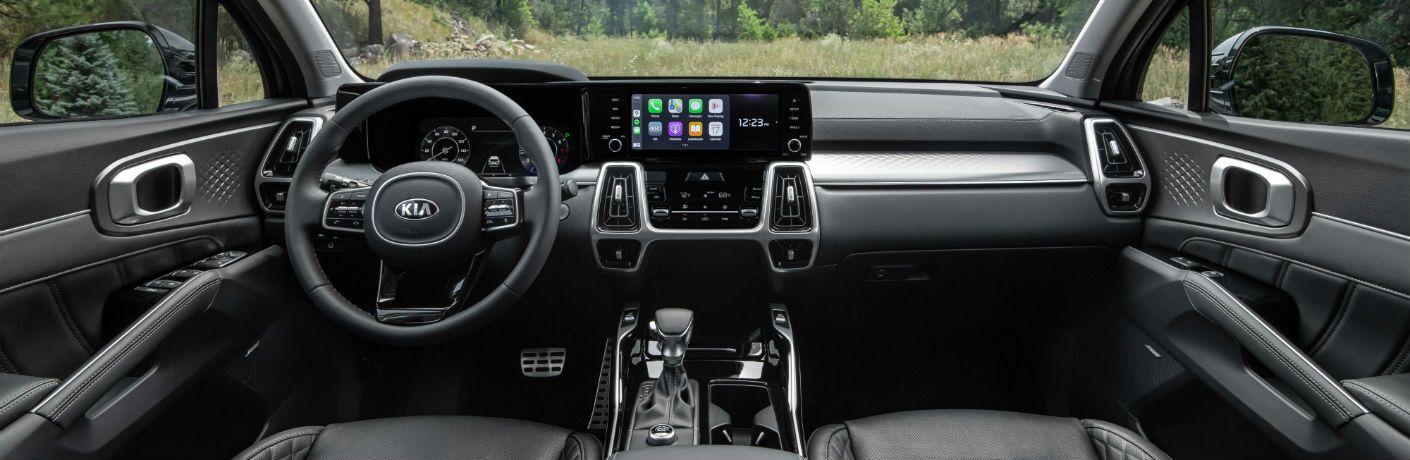 A photo of the dashboard in the 2021 Kia Sorento.