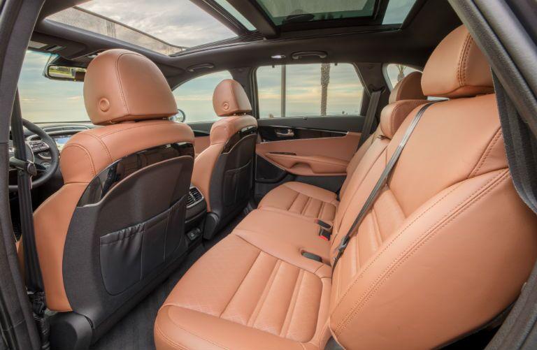 A photo of the rear seats in the 2020 Kia Sorento.