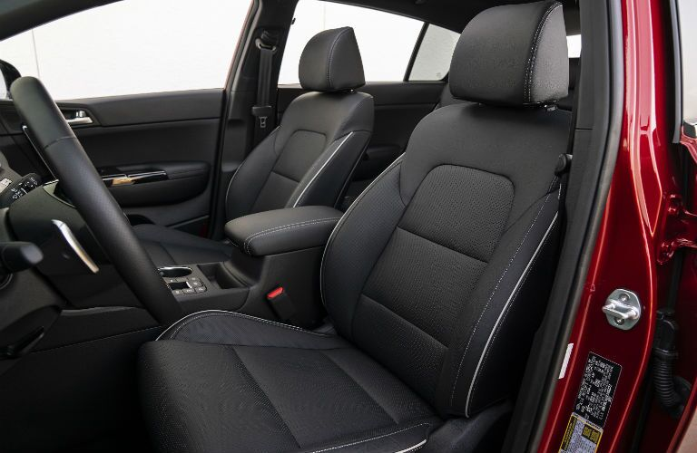 A photo of the front seats in the 2020 Kia Sportage.