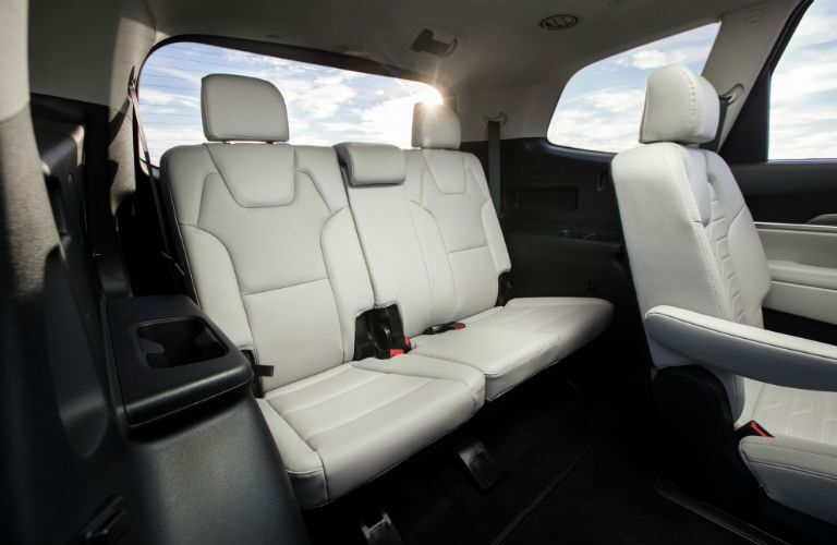 A photo of the third-row of seats in the 2021 Kia Telluride.