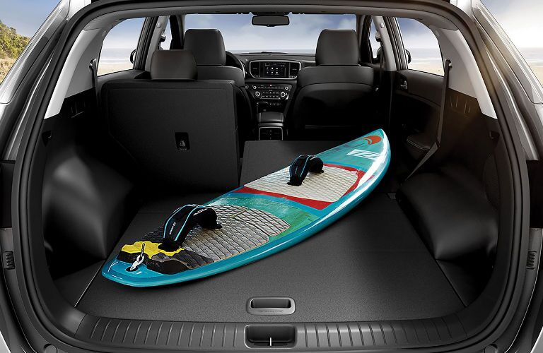 A photo of the cargo area in the 2020 Sportage.