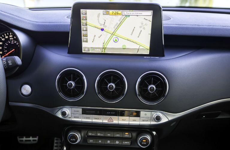 A photo of the touchscreen used in the 2020 Stinger.